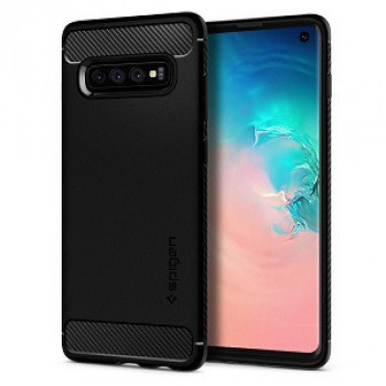 Оригинальный чехол Spigen Rugged Armor для Samsung  Galaxy S10 Matte Black