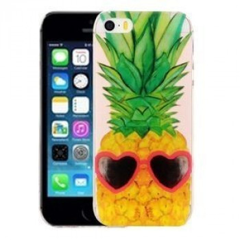 Прозрачный TPU Чехол IMD Workmanship Pineapple для iPhone 5/ 5S/ SE