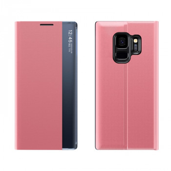 Чехол-книжка Clear View Standing Cover на Samsung Galaxy S9 Plus - розовый