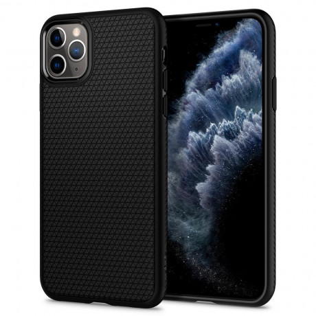 Оригинальный чехол Spigen Liquid Air iPhone 11 Pro Max Matte Black