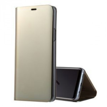 Чехол- книжка Samsung Clear View Standing Cover OEM на Samsung Galaxy S9/G960 PU Electroplating Mirror золотой