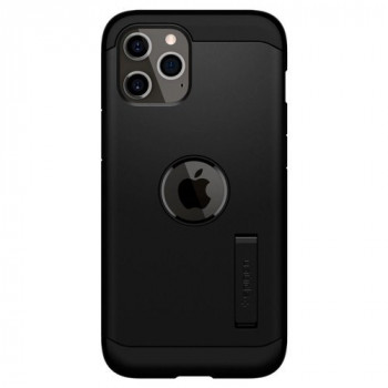 Оригинальный чехол Spigen Tough Armor на iPhone 12 Pro / iPhone 12 Black