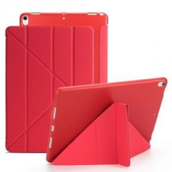 Чехол- книжка Solid Color Trid-fold + Deformation Viewing Stand на iPad  Air 2019/Pro 10.5 - красный