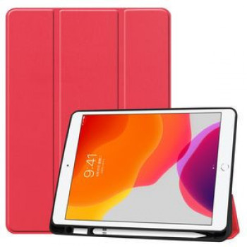 Чехол- книжка Custer Texture Horizontal Flip Smart на iPad 10.2- красный