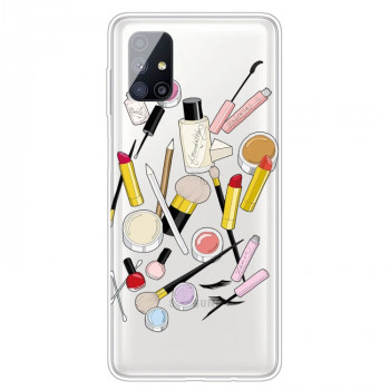 Ударозащитный чехол Painted Transparent на Samsung Galaxy M51 - Cosmetic