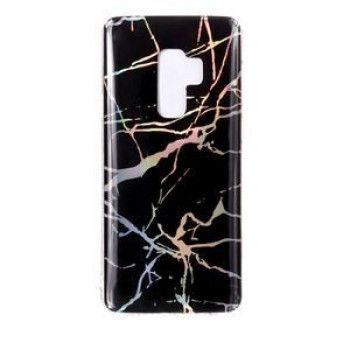 Чехол накладка на Samsung Galaxy S9+/G965 Color Plating Marble Texture черный