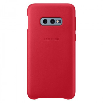 Оригинальный чехол Samsung Leather Cover для Samsung Galaxy S10e - red