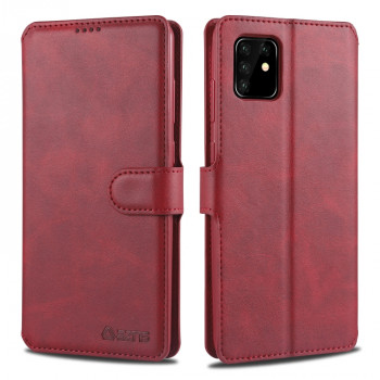 Чехол-книжка AZNS Calf Texture на Samsung Galaxy A81/M60S/Note 10 Lite - винно-красный