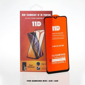 11D защитное стекло  Anti-Scratch Anti-Fall Tempered Glass на Samsung Galaxy M30 / A30 / A50/ A30s/A50s -черное