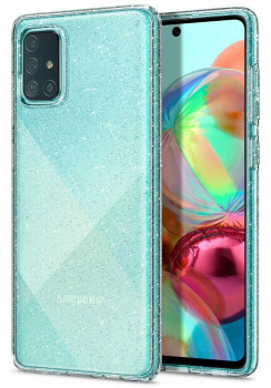 Оригинальный чехол Spigen Liquid Crystal на Galaxy A71 Glitter Crystal