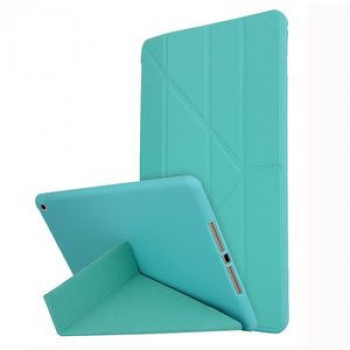 Чехол- книжка Solid Color Trid-fold Deformation Stand на iPad 8/7 10.2 (2019/2020) -зеленый