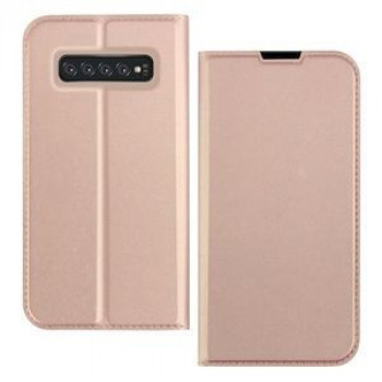 Чехол-книжка DZGOGO ISKIN Series Slight Frosted на Samsung Galaxy S10+/G975-розовое золото