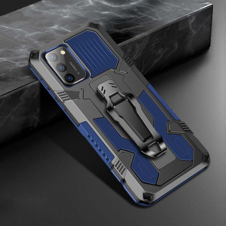 For Samsung Galaxy A02s Armor Warrior Shockproof PC + TPU Protective Case(Royal Blue)