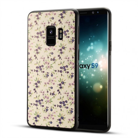 Чехол на  Samsung Galaxy S9/G960 Blue Flower Printed Pattern Surface