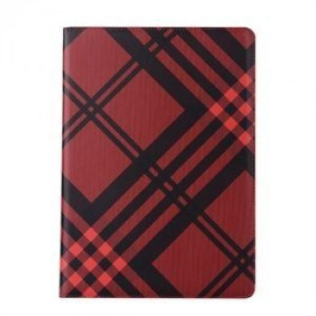 Чехол No. 7 Grid Pattern Luxury Red для iPad 9.7 2017/2018 (A1822/ A1823)