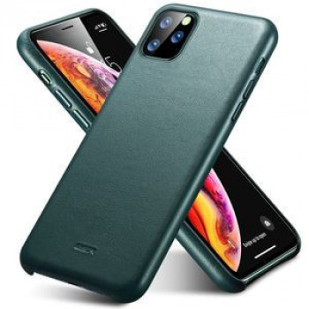 Кожаный чехол ESR Metro Leather Series на iPhone 11 Pro Max-Pine Green(зеленый)