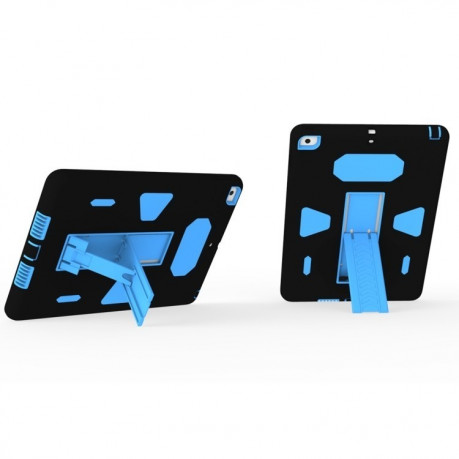 Противоударный Чехол Silicone Shockproof Holder Blue Black для iPad 9.7 2017/2018 (A1822/ A1823)