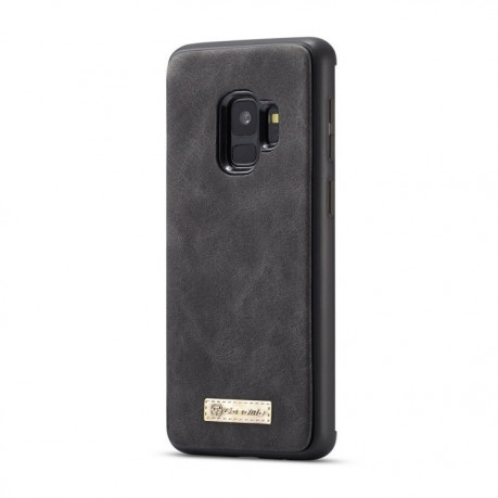 Кожаный чехол- кошелек CaseMe на Samsung Galaxy S9/G960 Crazy Horse Texcture Detachable (Black)