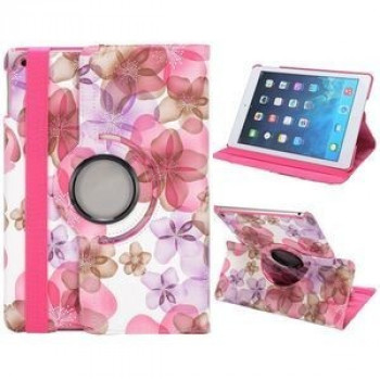 Чехол 360 Rotating Stylish Flowers розовый для iPad Air