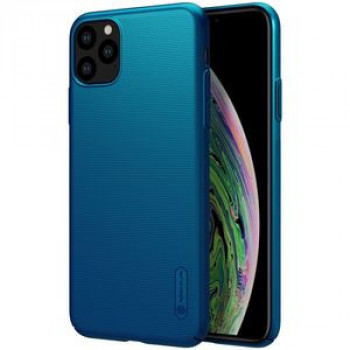 Чехол NILLKIN Frosted Shield Concave-convex Texture PC на iPhone 11 Pro Max - синий