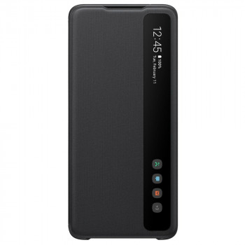 Оригинальный чехол-книжка Samsung Clear View Standing Cover для Samsung Galaxy S20 Ultra black (EF-ZG988CBEGRU)