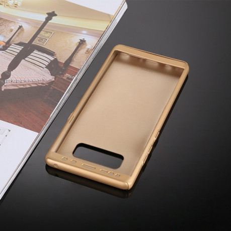 For Samsung Galaxy Note 8 360 Degree Full Coverage Protective Case Back Cover(Gold)
