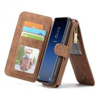 Кожаный чехол- кошелек CaseMe на Samsung Galaxy S9/G960 Crazy Horse Texcture Detachable (Brown)