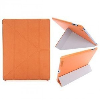 Чехол Cross Pattern Foldable Transformers оранжевый для iPad 4/ 3/ 2