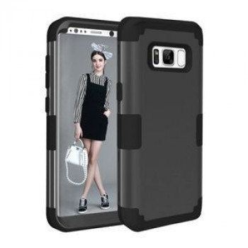 Противоударный Чехол Dropproof 3 in 1 Silicone sleeve Black для Samsung Galaxy S8 / G950