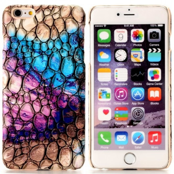 Пластиковый Чехол Coloured Drawing Blue and Purple Cocclestone для iPhone 6, 6S