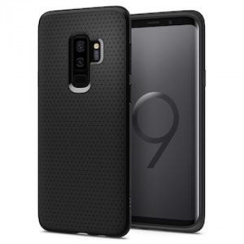 Оригинальный чехол Spigen Liquid Air на Samsung Galaxy S9+ Plus Matte Black