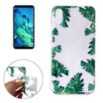 Чехол на iPhone X Green Leaf Pattern