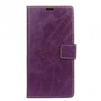 Кожаный чехол Retro Crazy Horse Texture на Samsung Galaxy S10 Plus/G975-фиолетовый