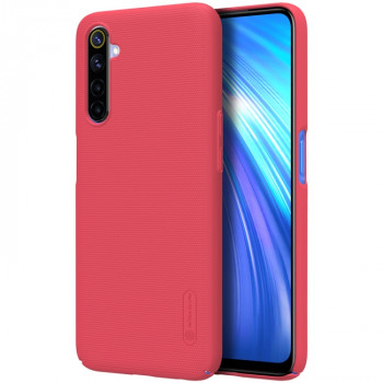 Чехол NILLKIN Frosted Shield Concave-convex на Realme 6 - красный
