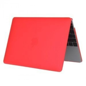 Чехол Colored Translucent Frosted Red для Macbook 12