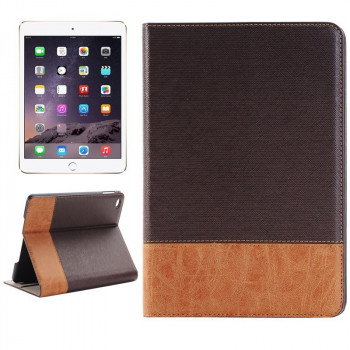 Кожаный Чехол Cross Texture Smart Leather Coffee для iPad Mini 4