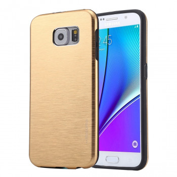 Металлический Чехол Motomo Brushed Texture Metal Gold для Samsung Galaxy Note 5