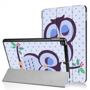Чехол- книжка Colored Painting Foldable Tri-Fold на  iPad 9.7 (2017/2018) - Owl