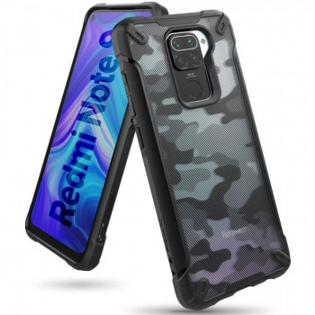 Оригинальный чехол Ringke Fusion X Design durable на Xiaomi Redmi 10X / Redmi Note 9 Camo Black