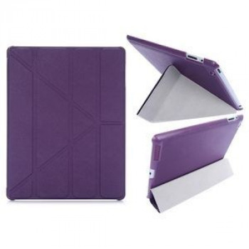 Чехол Cross Pattern Foldable Transformers на iPad 2 / 3 / 4 - фиолетовый