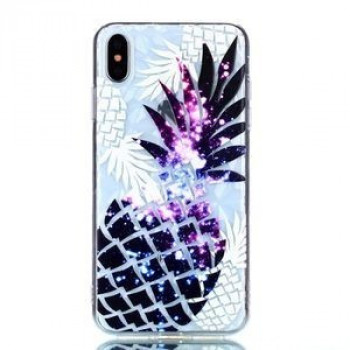 Чехол  Pineapple Pattern Diamond Texture Oil на iPhone XS Max
