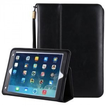 Кожаный чехол Premium Leather Retro Cowhide Texture Holder Card Slots Sleep/Wake-up черный для iPad 9.7 2017/2018/Air/Air 2/Pro 9.7