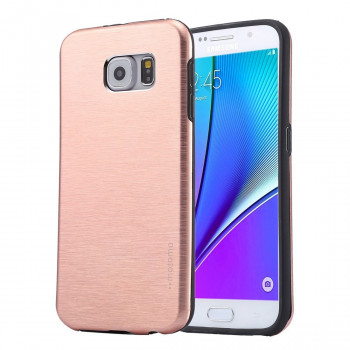 Металлический Чехол Motomo Brushed Texture Metal Pink для Samsung Galaxy Note 5