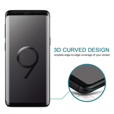 Защитное 3D стекло наr Samsung Galaxy S9/G960 9H Surface Hardness (Black)