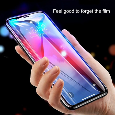 Защитное стекло Baseus 0.2mm 9H Curved Full Screen Tempered Glass Film  на iPhone Xs Max черное