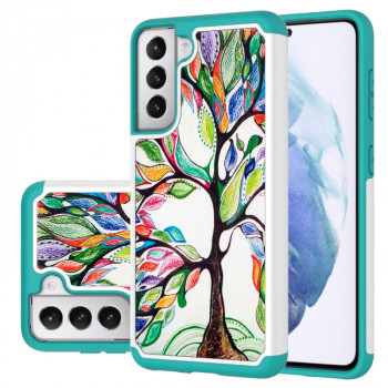 Противоударный чехол Coloured Pattern на Samsung Galaxy S21 - Colorful Tree