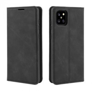 Чехол-книжка Retro-skin Business Magnetic Suction на Samsung Galaxy A81 / M60S / Note 10 Lite -черный