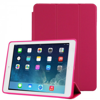 Чехол-книжка Treated Smart Leather Case  для iPad Air 2 - фуксия