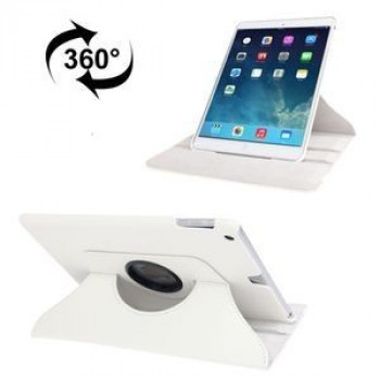 Кожаный Чехол 360 Degree Rotation Litchi White для iPad 9.7 2017/2018