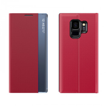 Чехол-книжка Clear View Standing Cover на Samsung Galaxy S9 Plus - красный